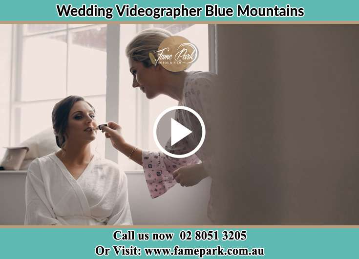 Bride getting makeup done Blue Mountains