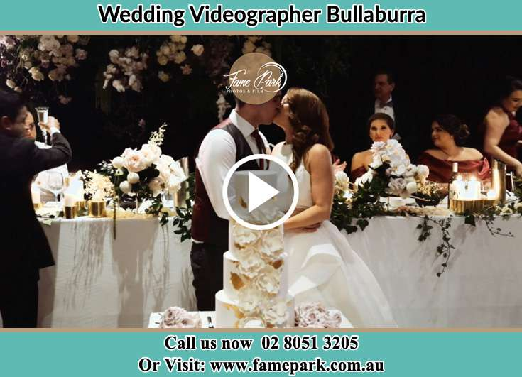 Bride and Groom kissed at the reception Bullaburra NSW 2784