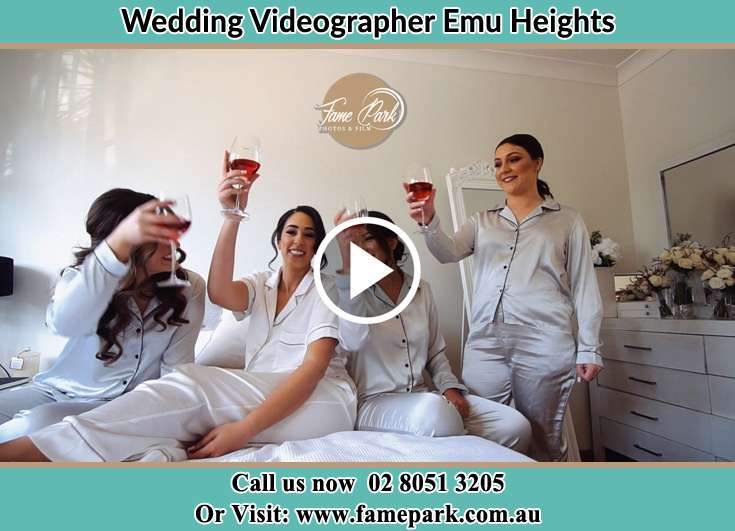 Bride and her Bride's maids making a toast Emu Heights NSW 2750