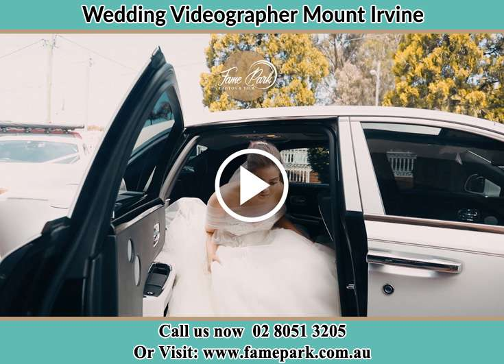 Bride stepping down the bridal car Mount Irvine NSW 2786