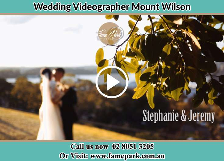Bride and Groom at the hill Mount Wilson NSW 2786