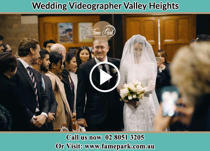The Bride walking down the aisle with his father Valley Heights NSW 2777