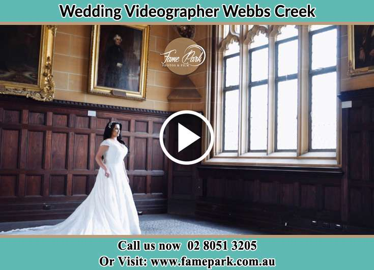 Bride at the church Webbs Creek NSW 2775
