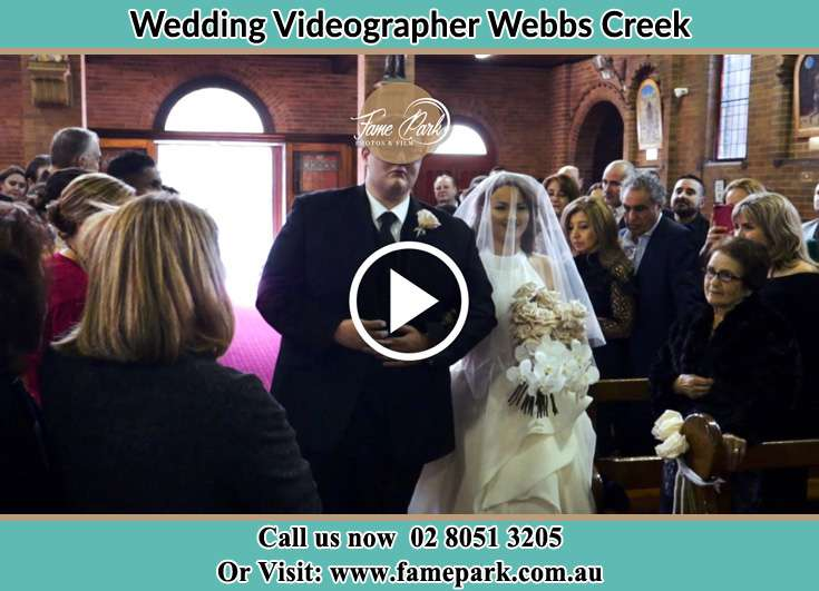 Bride and Groom walking at the aisle Webbs Creek NSW 2775