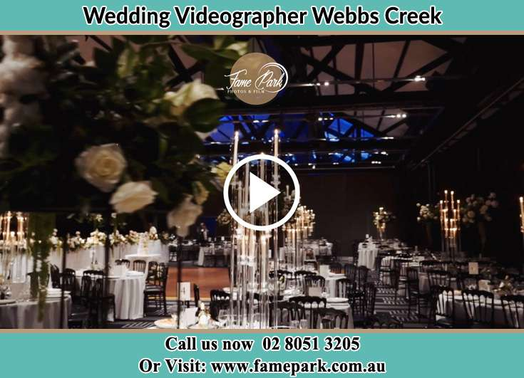 The reception Webbs Creek NSW 2775