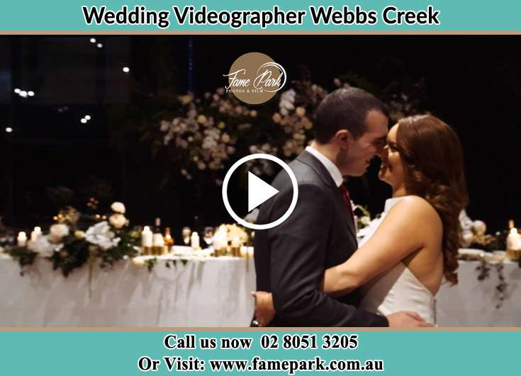 Bride and Groom looking at each other at the dance floor Webbs Creek NSW 2775