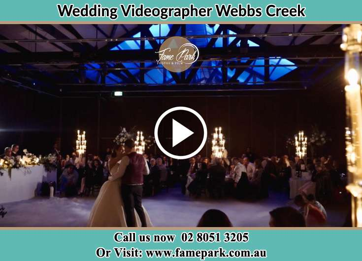 Bride and Groom at the dance floor Webbs Creek NSW 2775