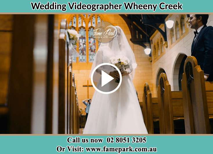 The Bride walking down the aisle Wheeny Creek NSW 2758