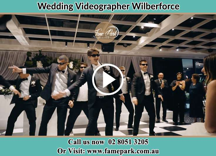 The Groom dance with the groomsmen Wilberforce NSW 2756